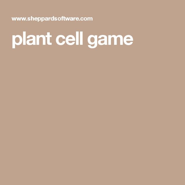 plant cell game