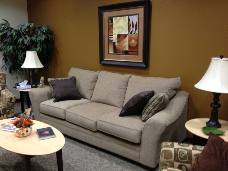 Waiting area in counseling office ideas...in case someone arrives early or appointments run over.