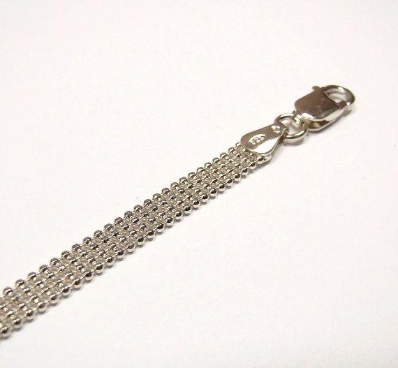 FLAT BALLS chain bracelet     sterling silver  by DawidPandel, zł29.00
