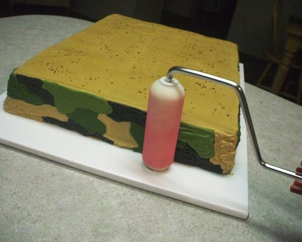 How To Make a Camouflage Pattern Buttercream Cake @Cake Central