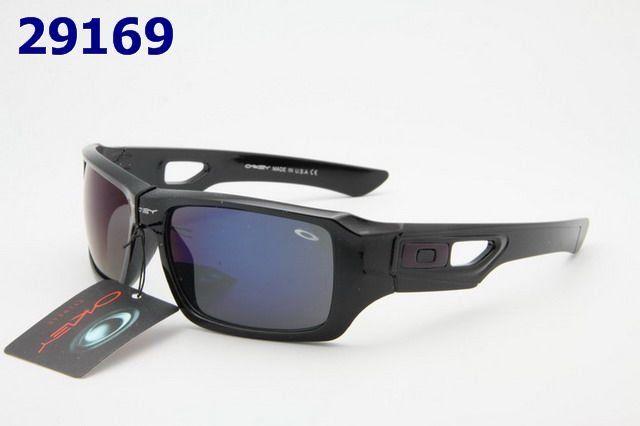 Wholesale Cheap Oakley Gorgeous Black Blue Square Face Sunglasses 1566#Oakley Sunglasses