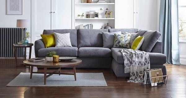Karisma Right Arm Facing Open End Corner Sofa Sherbet
