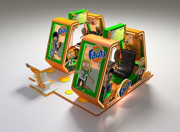 Exhibition Stand Game : Fanta game on behance pos pop stands n displays