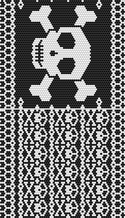 small repeating skull pattern