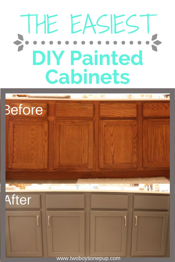 The easiest DIY painted cabinets! Done in one day, no priming needed! Only $60! | DIY | bathroom cabinets | bathroom remodel | home improvement | cheap bathroom upgrade | interior design | behr alkyde | home depot | bathroom remodel | oak cabinets | painted  bathroom cabinets | grey bathroom | bathroom ideas | cheap bathroom remodel | painting cabinets