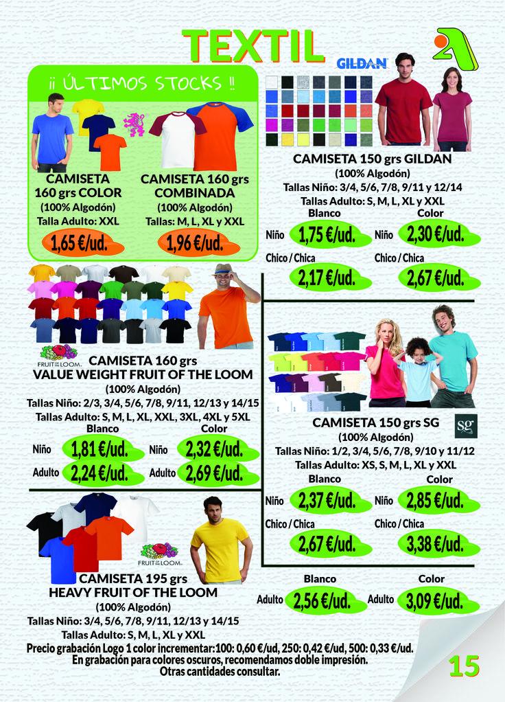 Página 15: Textil I #FruitoftheLoom #Gildan #SG