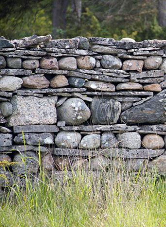 En stenmur på Fårö, Gotland, Sverige