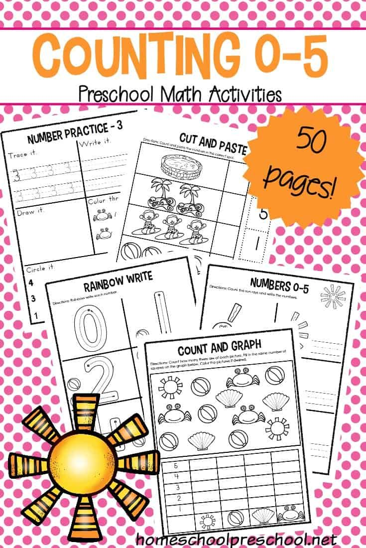 Preschool Number Worksheets 0 5 Numbers Preschool Preschool Number Worksheets Tot School [ 1100 x 735 Pixel ]