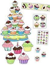 Cupcakes bulletin board ideas, ready-made and DIY: http://www.myfreshplans.com/2011-07/cupcake-bulletin-boards