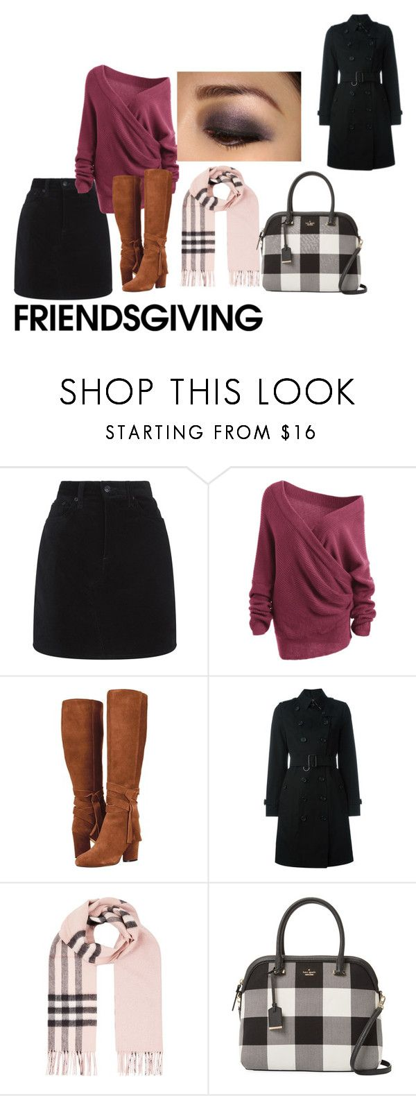 """Untitled #332"" by alex-reid-faulkner ❤ liked on Polyvore featuring rag & bone, Burberry and Kate Spade"