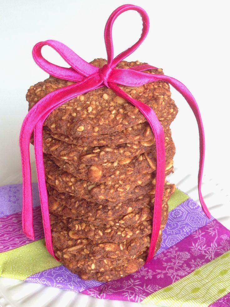 Sødlige kanelkiks med chiafrø (og mørk chokolade) - LCHF