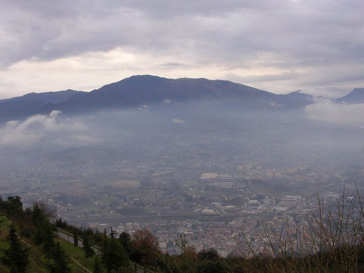 Looking down on Cassino