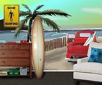 tons of beach theme bedroom ideas on one page