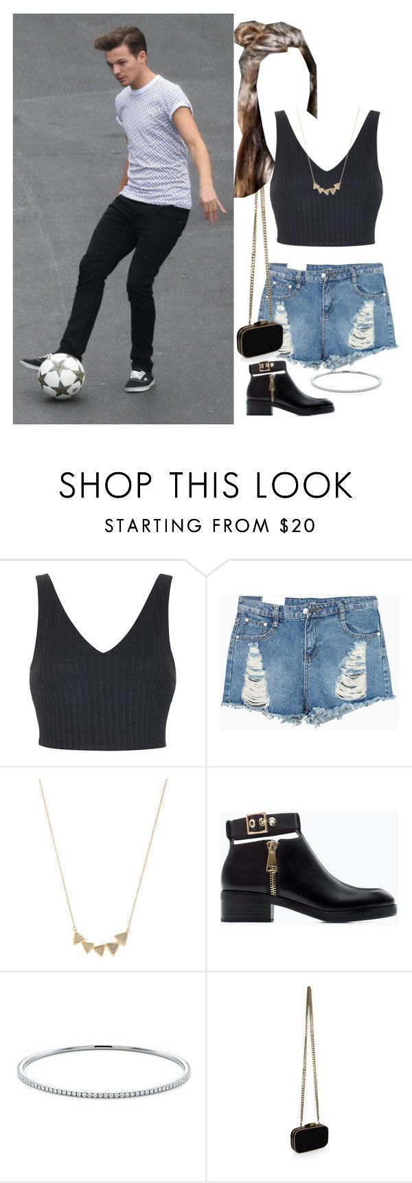 """""""E-arena with your boyfriend louis"""" by onedirectionnhllz ❤ liked on Polyvore featuring Topshop, Jennifer Meyer Jewelry, Zara, Tiffany & Co. and Carvela Kurt Geiger"""