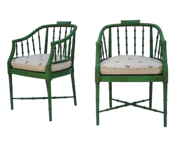 Pair Hollywood Regency Faux Bamboo Armchairs by Baker Furniture Chairs - 517 Best Antique/vintage Furniture Images On Pinterest Barrels
