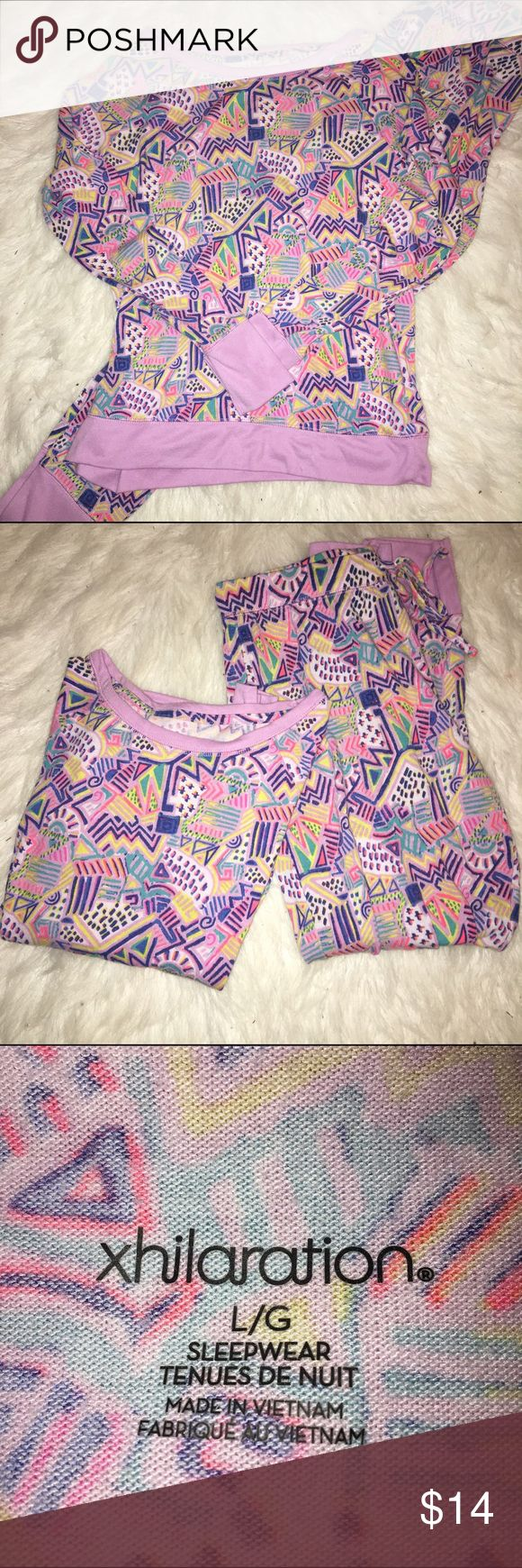 Ladies' Pajama Set 💜 These pajamas are so soft and cozy! Knit material with stretch still in good condition. Xhilaration Intimates & Sleepwear Pajamas