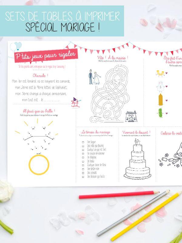 Set de desk pour les enfants à un mariage