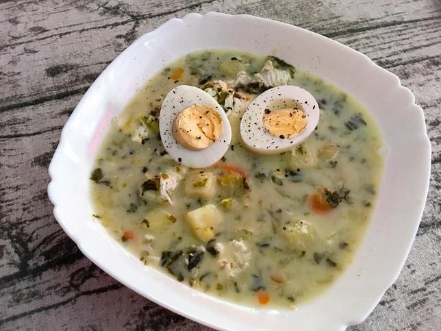 Zupa Szczawiowa Na Bogato W Sam Raz Na Wiosne Recipe Yummy Food Chowder