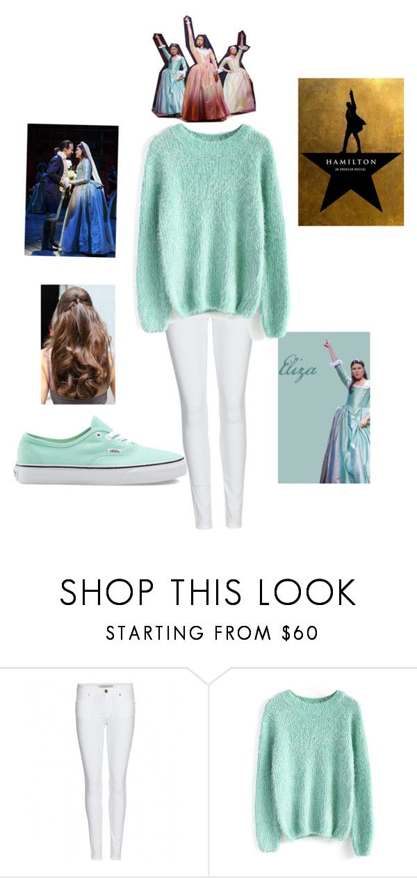 """""""Casual Eliza Hamilton"""" by broadwaydork ❤ liked on Polyvore featuring Burberry, Chicwish and Vans"""