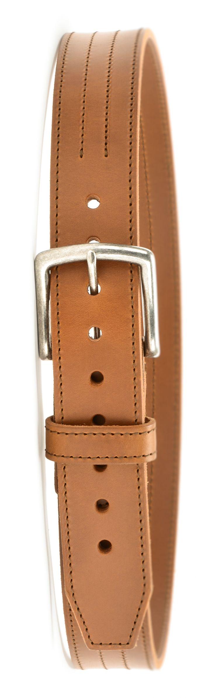 Saddleback leather four stitch belt in tobacco brown