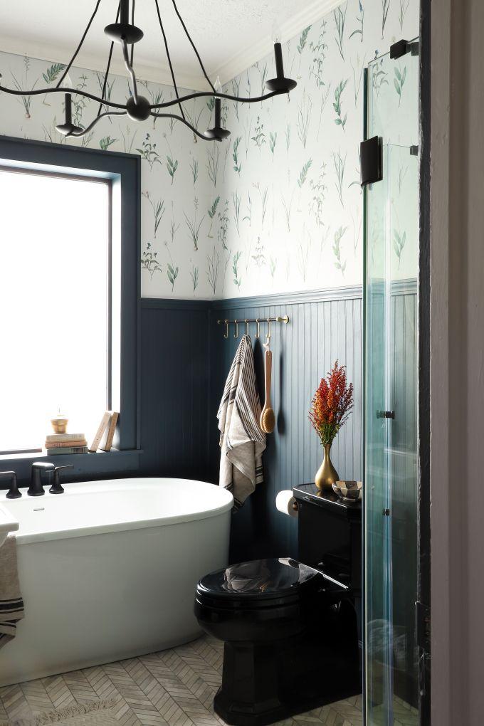 One Room Challenge Bathroom Reveal Day With Images Bathroom Farmhouse Style Farmhouse Style Bathroom Decor Bathroom Lighting Design
