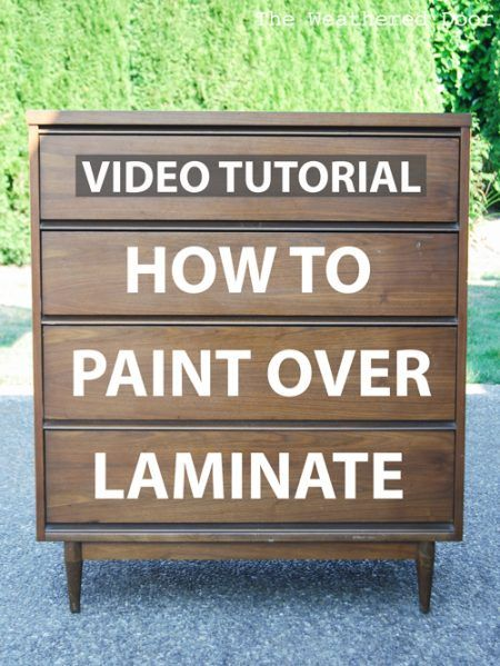 Furniture with laminate or plastic can be painted. This video tutorial shows the simples steps it takes to successfully paint over laminate.