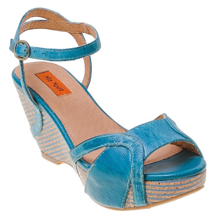 Buy Green Ice Sky Black Miz Mooz Women's Yang Wedge Sandal shoes