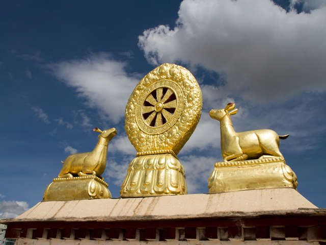 The Golden Roof Of Ramoche Monastery