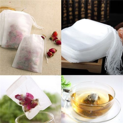 BD New Teabags 100Pcs/Lot 5.5 x 6CM Empty Tea Bags With String Heal Seal Filter