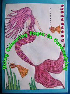 A Pretty Talent Blog: Cardmaking: To Catch A Mermaid