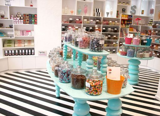 & Smith's SugarSin sweet shop  Holy Stripes! Kind of awesome for a small area though