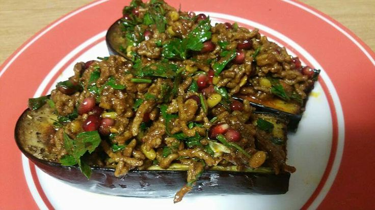 Lamb Mince and Pomegranate Eggplant