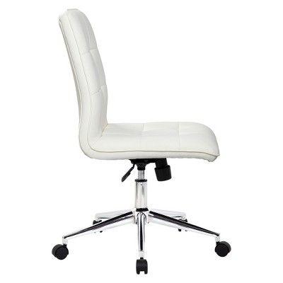 Modern Task Chair – White