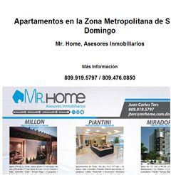 Apartamentos en la Zona Metropolitana de Santo Domingo 809.919.5797 / 809.476.0850 - Publicidad