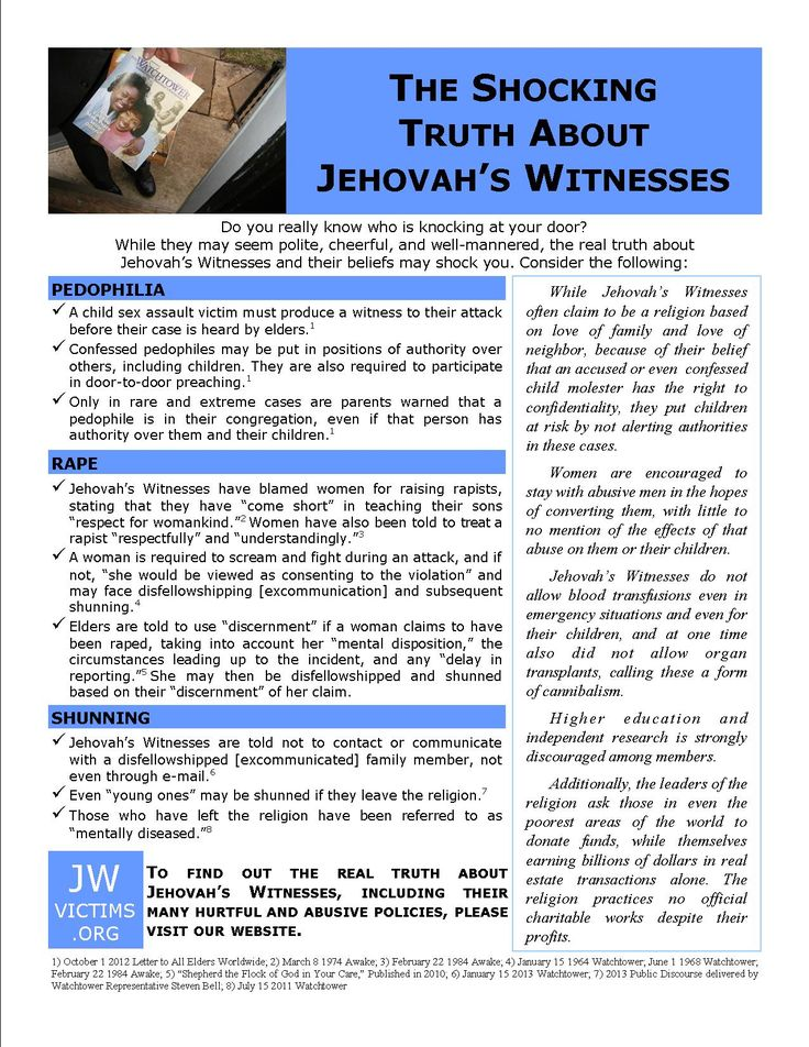 Jehovahs Witnesses: before, they were just creepy. Now they're absolutely terrifying.