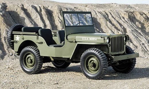 1941 Willys Jeep - 1941 Willys Jeep - If you've ever seen a WW2 movie, then you've seen a Willys Jeep. Built by Willys and Ford for the army, these strong and cheap jeeps are an icon around the world. It's worth noting that the Willys and Ford Jeeps varied very little from each other.