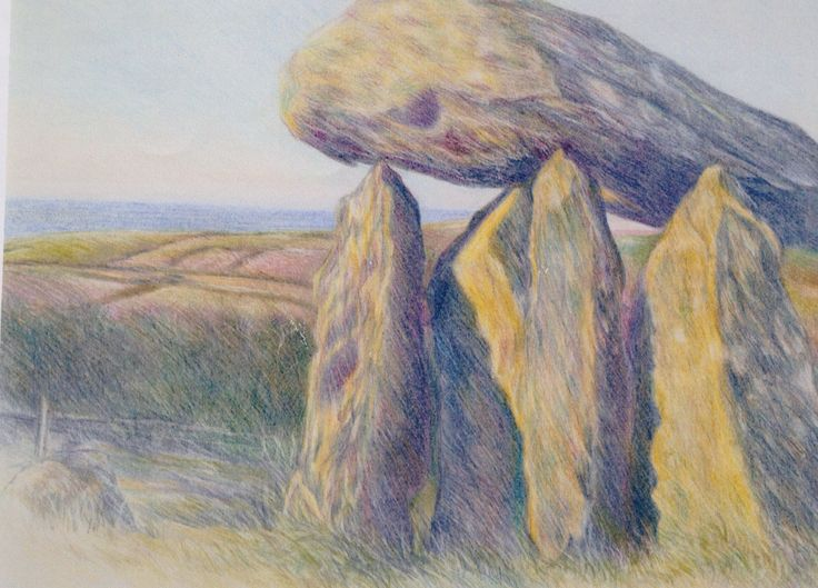 Colour Pencil piece ~ Pentre Ifan
