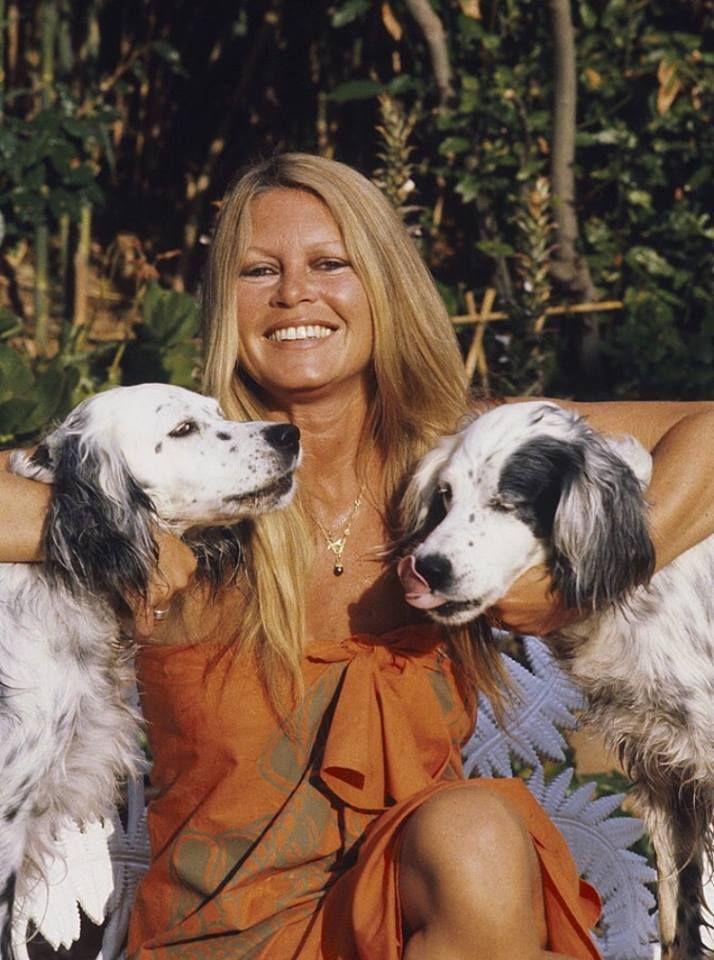 Brigitte Bardot with her dogs at La Madrague, Saint-Tropez, 1980