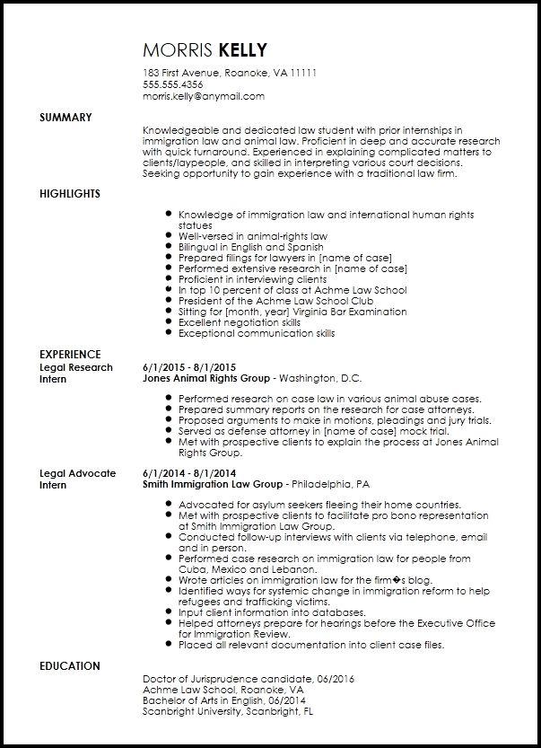 Free Traditional Legal Internship Resume Template Resume Now Internship Resume Student Resume Template Resume Template