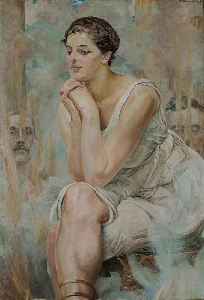 """""""The Pythia"""" by Jacek Malczewski"""