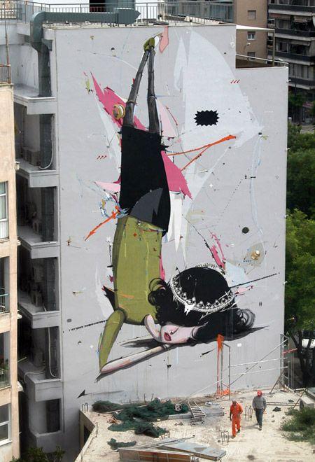 Alexandros Vasmoulakis, arte urbano a gran escala. : Distorsion Urbana