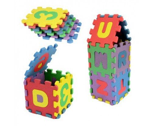 Puzzle polifoam gyerekeknek 3 év felett. 36 darabos kirakós játék, mely a betűket és számokat segít megtanítani.