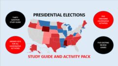 Presidential Elections Study Guide and Activity Pack ! Enter for your chance to win 1 of 5. Presidential Elections:  Study Guide and Activity Pack  (89 pages) from BHulman on TeachersNotebook.com (Ends on on 02-21-2016) Presidential Elections:  Study Guide and Activity Pack.  Includes a thirty question study guide, five authentically interdependent cooperative group activities and five exciting review games..