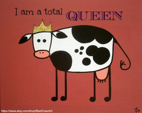 Meet her Royal Cowness! The cow who was born and raised in a royal family and she is never going to forget that...