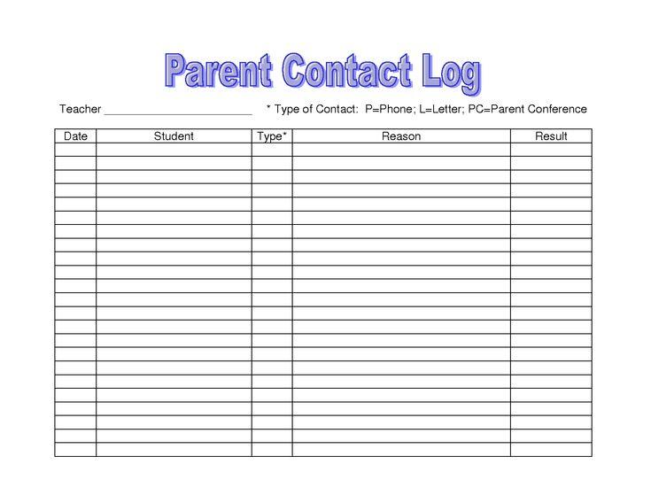 Более 25 лучших идей на тему «Журнал общения с родителями» на - contact log template