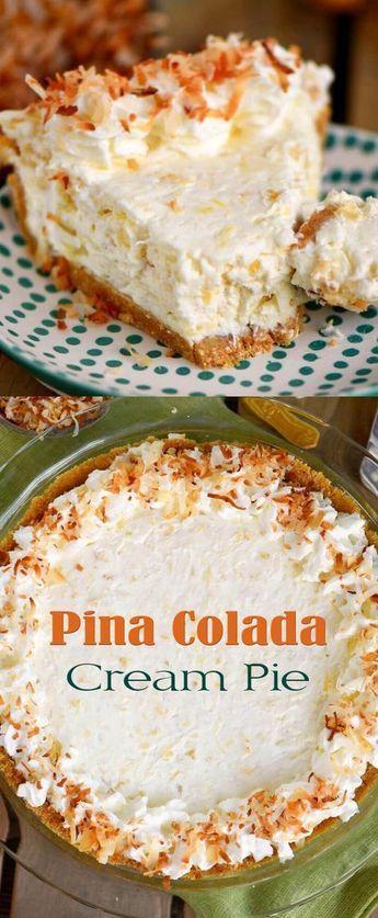 Pina Colada Cream Pie  Remember Wrhel.com - #Wrhel