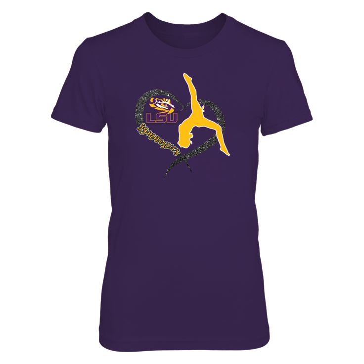 *Officially Licensed LSU Gymnastics Shirts * Find your LSU gymnastics schedule and cheer on your LSU Fighting Tigers  gymnastic team with officially licensed LSU Tiger apparel. Custom design LSU t-shirts, tank tops, and long sleeve tees for every member of the family.  LSU Tiger clothing is a...