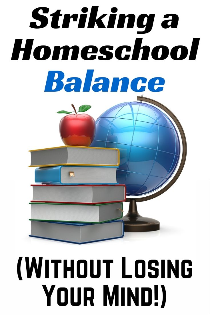 Striking a balance isn't always easy when you're homeschooling. Here are six tips to help you find that balance.