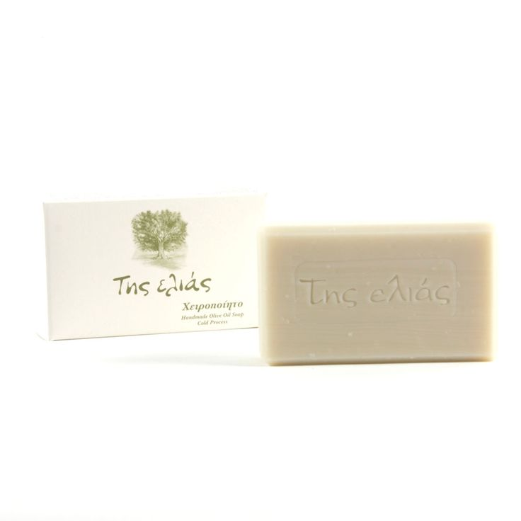 """Tis Elias Handmade Olive Oil Soap: This is an olive oil soap of excellent quality produced with the """"cold method"""" which stands for the manufacturing of the soap excluding the boiling of the oil or the addition of salt. This results in a white soap of excellent quality which maintains its natural glycerin.   It is a Greek traditional handmade soap, resulting in the different appearance, weight and shape of every piece."""