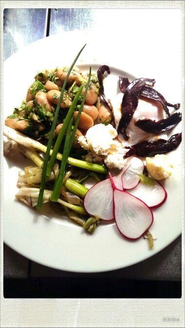 Spring salad. Homage to my teacher.